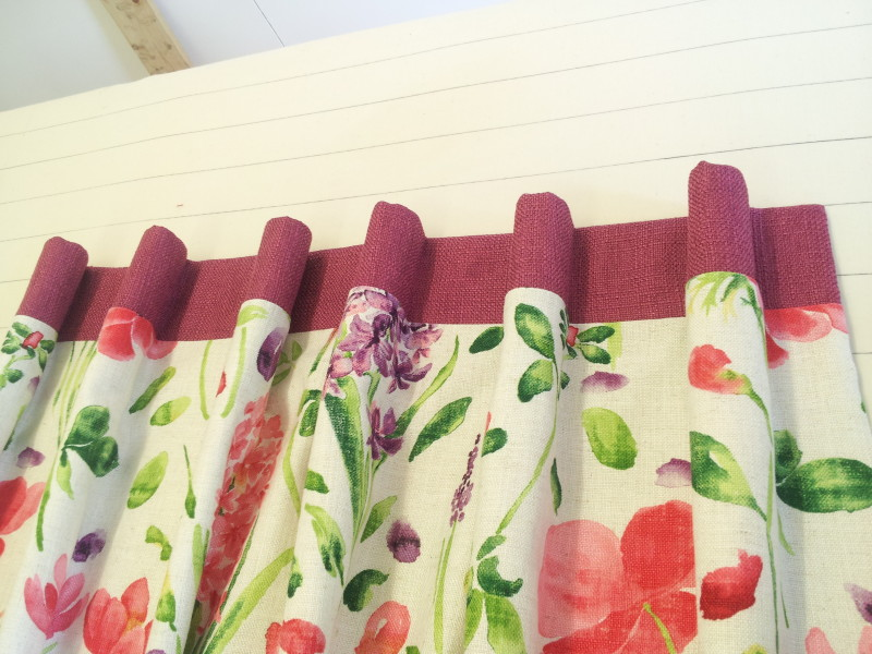 Floral curtains with cartridge pleat heading